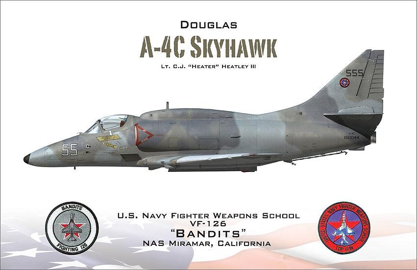 """A-4 Skyhawk C.J. """"Heater"""" Heatley III"""