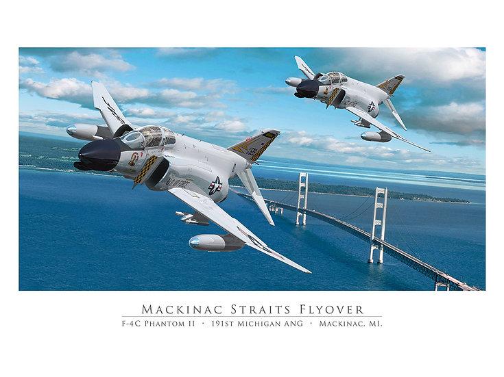 Mackinac Straits Flyover