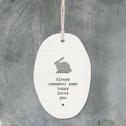 Porcelain hanger rabbit-Some bunny loves you