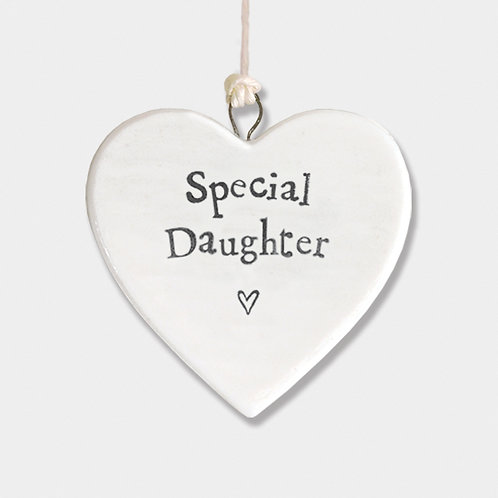 Special Daughter Small Porcelain Heart