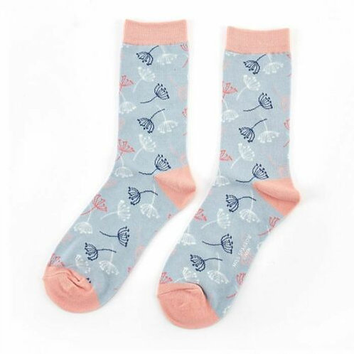 Dandelion Bamboo Socks powder blue Size UK 4-9
