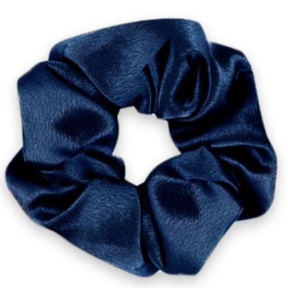 Scrunchie silky hair tie Deep Blue