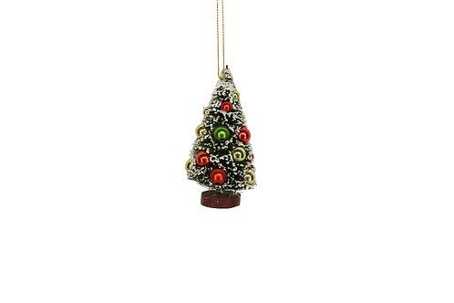 Mini Bristle/Multi Colour Ball Tree Dec