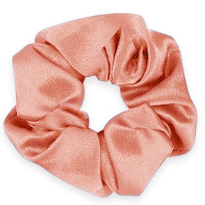 Scrunchie silky hair tie Flirty Flamingo Rose