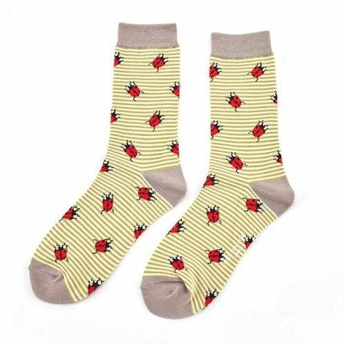Ladybirds Bamboo Socks Olive One Size UK 4-9