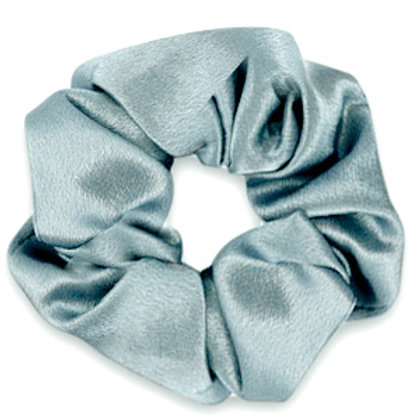Scrunchie silky hair tie Allure Blue Grey