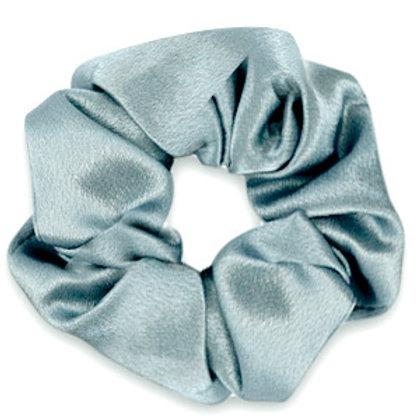Scrunchie silky hair tie Allure Blue Grey