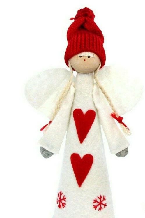 Gisela Graham Felt Angel Christmas Tree Topper 25cm