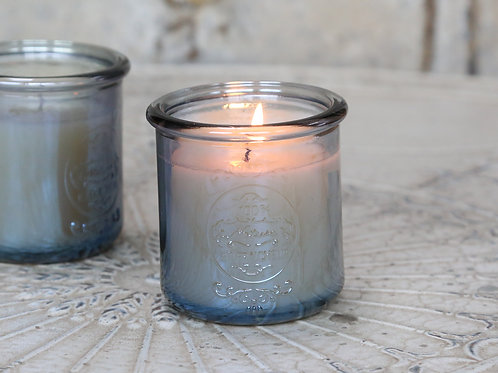 SCENTED CANDLE in FRENCH GLASS 25 Hr- 3 Fragrance Options