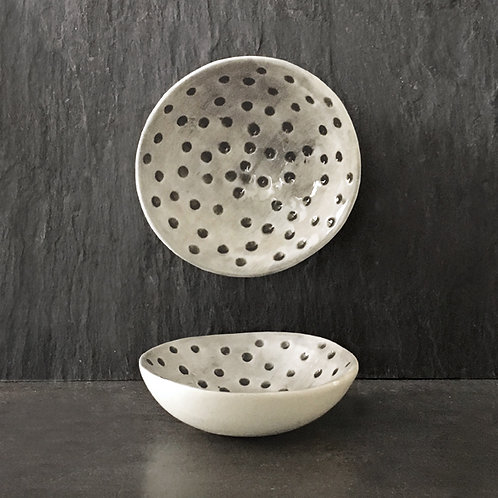 Sml hand painted bowl-Dimpled spots