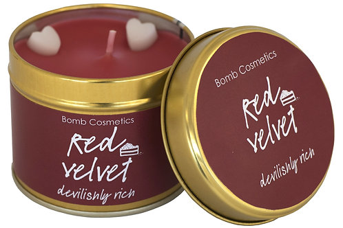 Red Velvet Tinned Candle