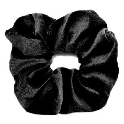 Scrunchie velvet hair tie Black