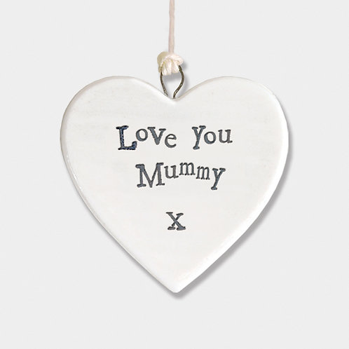 Love You Mummy Small Porcelain Heart
