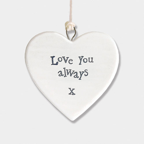 Love You Always Small Porcelain Heart