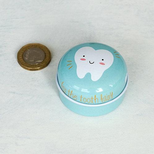 Blue Tooth Fairy Tin
