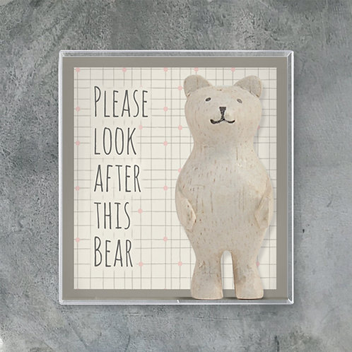 Boxed bear-Please look after