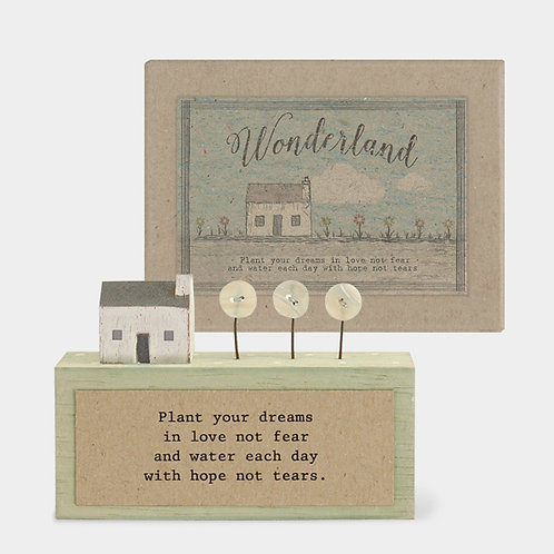 Wonderland plaque-Plant dreams