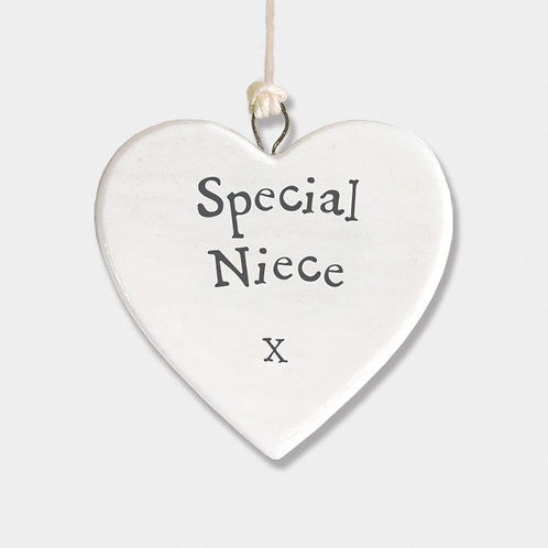 Special Niece Small Porcelain Heart