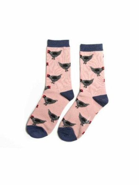 Hen Chicken Bamboo Socks Dusky Pink Size UK 4-9