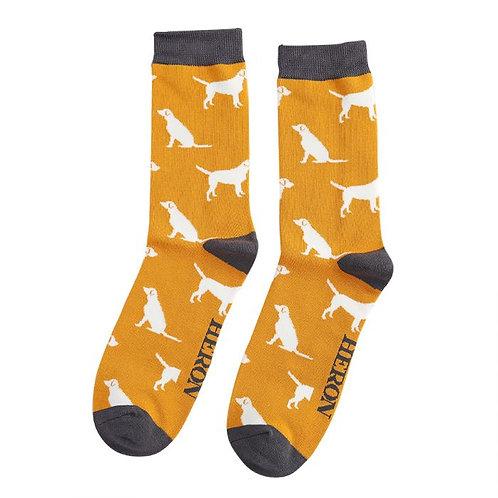 Labradors Socks Mustard