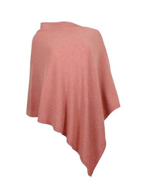Classic Cashmere Blend Poncho AW20 Salmon Pink