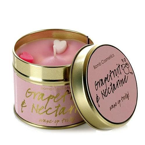 Grapefruit & Nectarine Tin Candle