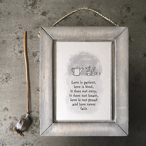 Grey frame-Love is patient,love is kind