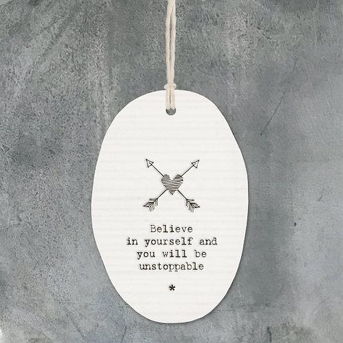 Porcelain hanger arrows-Believe in yourself