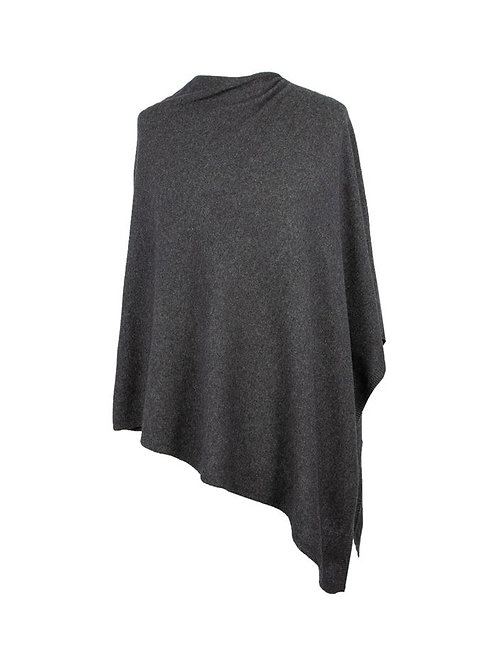 Classic Cashmere Blend Poncho AW20 Anthracite