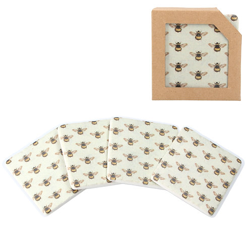 Gisela Graham Bees Resin Coasters Pack of 4