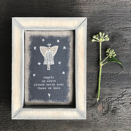 Embroidered box frame-Angels up above