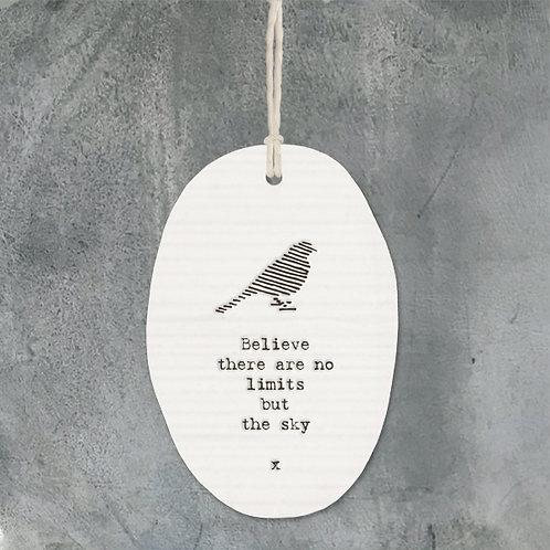 Porcelain hanger bird-No limits but sky