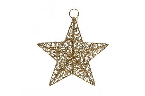 Metal Star 15cm - Gold Mesh