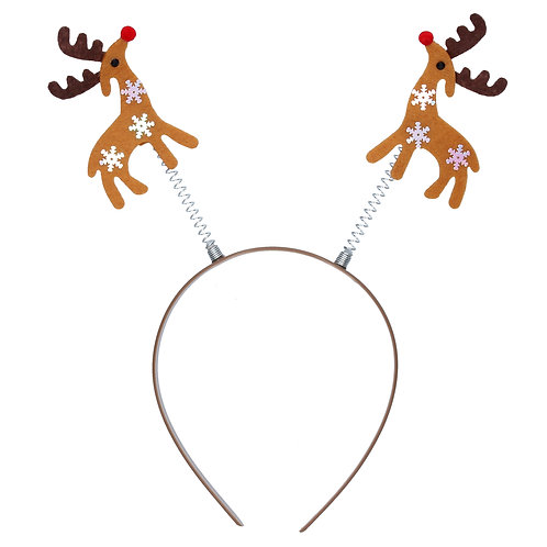 Headband 29cm - Fabric Reindeer Boppers