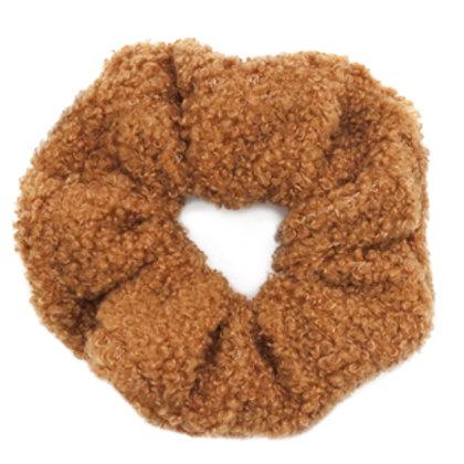 Scrunchie teddy hair tie Brown