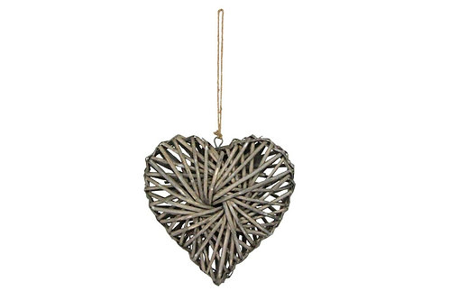 Woven Willow Heart Decoration Gisela Graham Small 24x24x7cm