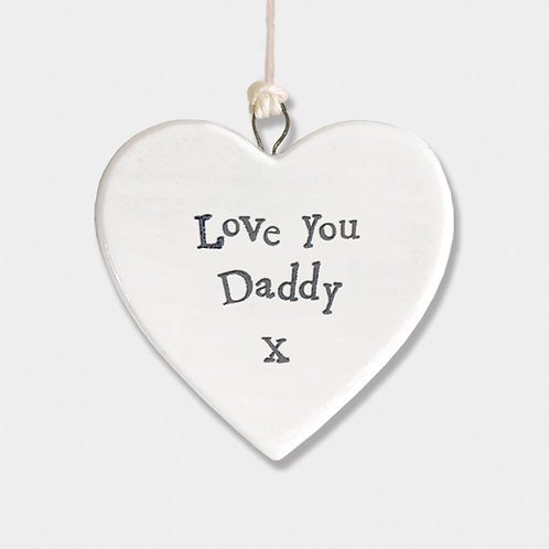 Love You Daddy Small Porcelain Heart
