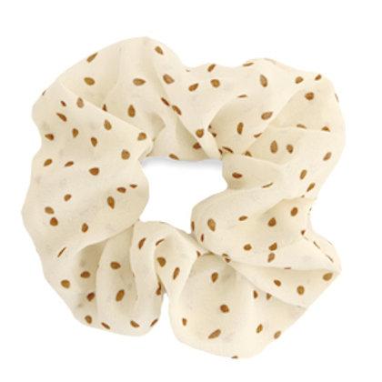 Scrunchie hair tie dots Off White