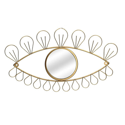 Gold Eye Wall Mirror by Gisela Graham