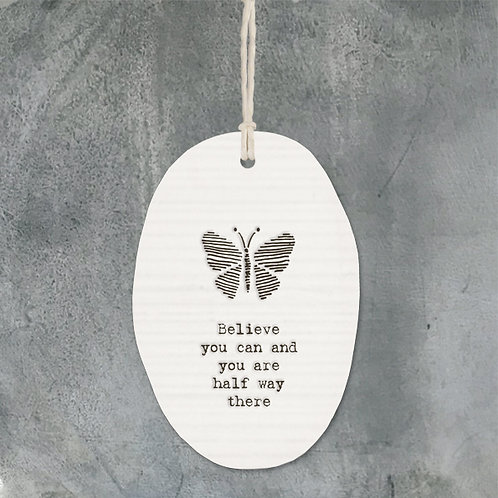 Porcelain hanger butterfly-Believe you can