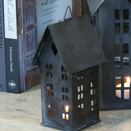 Candle House Lantern in Antique Coal 22cm