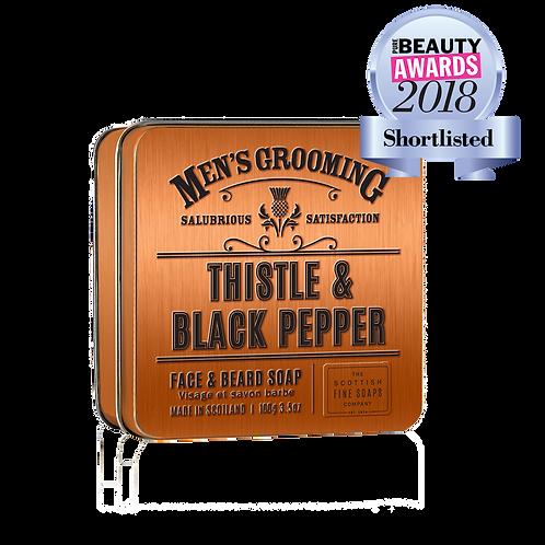 THISTLE & BLACK PEPPER FACE & BEARD SOAP