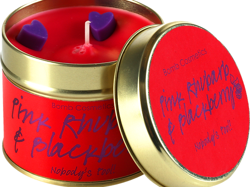 Pink Rhubarb & Blackberry Tinned Candle