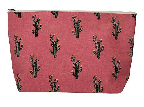 Gisela Graham Cacti Canvas Zip Wash Bag/ Cosmetic Bag