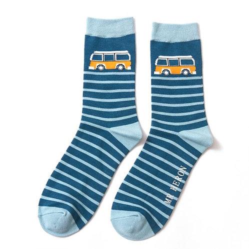 Camper Stripe Socks Teal