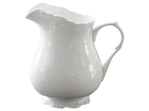 Provence Classic Porcelain White Cream Jug French Country Chic