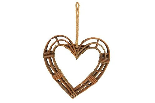 Gisela Graham Wicker Twig Frame Heart Wreath