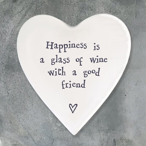 Porcelain coaster-Happiness Glass Wine