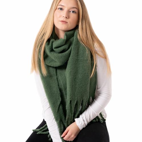 Soft Winter Plain Scarf Green