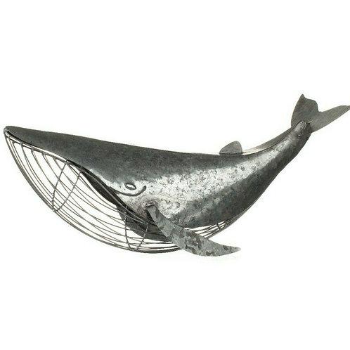 Shoeless Joe Table Top Coastal Whale Sculpture Decoration